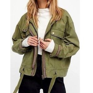 NWT Free People Army Green jacket